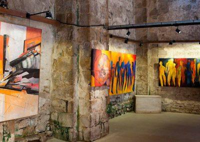 Vouvant  Exposition des œuvres de Jacques Dominioni, à la nef Théodelin