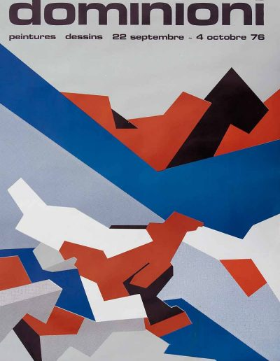 Affiche exposition de peinture de Jacques Dominioni peintre au Musée de Saint Paul septembre octobre 1976