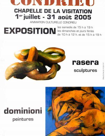 Affiche exposition de peinture de Jacques Dominioni peintre à Condrieu Chapelle de la Visitation juillet août 2005
