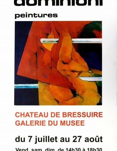 Affiche exposition de peinture de Jacques Dominioni peintre au chateau de Bressuire Galerie du Musée _ Juillet aout 2007