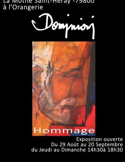 Affiche exposition hommage peinture de Jacques Dominioni peintre à La Mothe Saint Héray Août septembre 2015