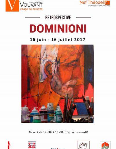 Affiche exposition hommage peinture deJacques Dominioni peintre à Vouvant en Vendée Nef Théodolin juin juillet 2017