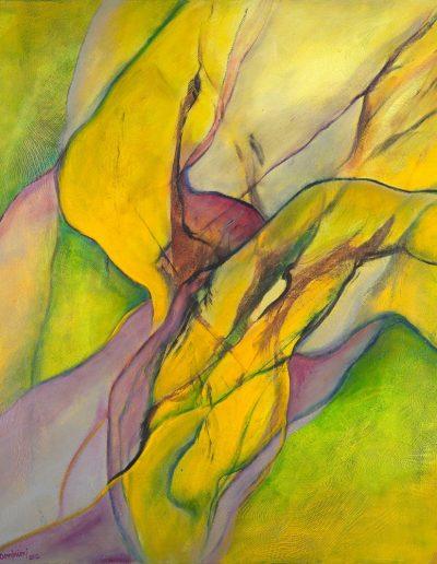 Acrylique sur toile – dimensions hauteur x largeur: 130 x 130 cm – Lyrisme figuratif – réf. 33JD17