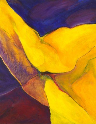 Acrylique sur toile – dimensions hauteur x largeur: 130 x 130 cm – Lyrisme figuratif – réf. 34JD17