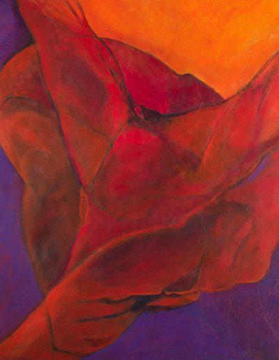 Acrylique sur toile – dimensions hauteur x largeur: 130 x 130 cm – Lyrisme figuratif – réf. 35JD17