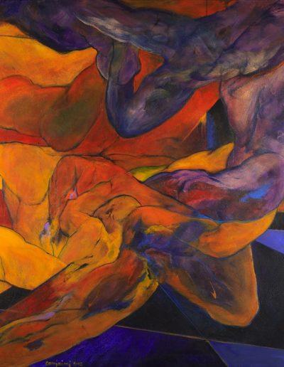 Acrylique sur toile – Collection particulière – dimensions hauteur x largeur: 130 x 195 cm – Lyrisme figuratif – réf. 36JD17