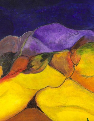 Acrylique sur toile – dimensions hauteur x largeur: 90 x 130 cm – Lyrisme figuratif – réf. 37JD17