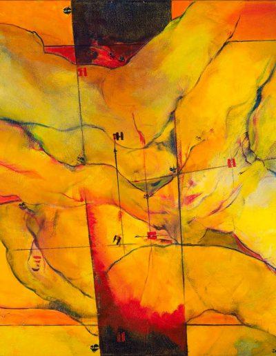 Acrylique sur toile – Collection particulière – Lyrisme géométrique – réf. 40JD17