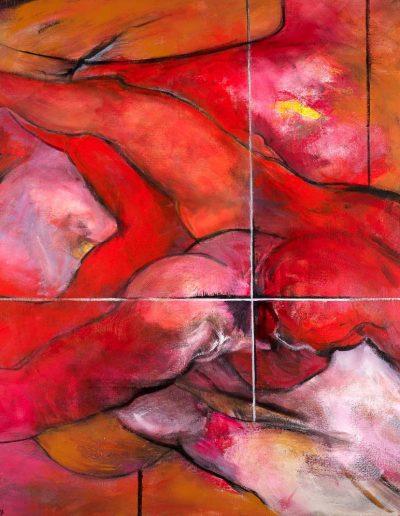 Acrylique sur toile – Collection particulière – Lyrisme géométrique – réf. 42JD17