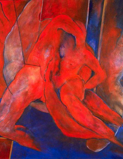 Acrylique sur toile – dimensions hauteur x largeur: 130 x 130 cm – Lyrisme géométrique – réf. 44JD17