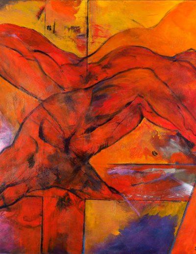 Acrylique sur toile – dimensions hauteur x largeur: 100 x 100 cm – Lyrisme géométrique – réf. 48JD17