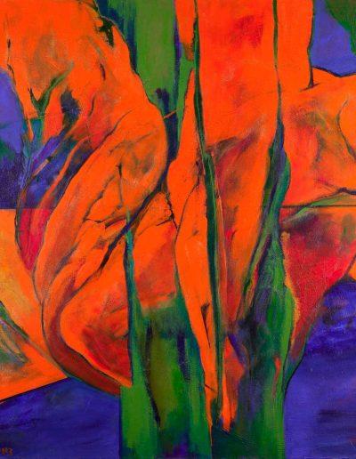Acrylique sur toile – dimensions hauteur x largeur: 145 x 145 cm – Lyrisme géométrique – réf. 50JD17