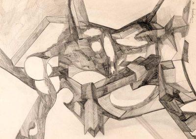 Crayon – Hauteur x largeur: 45 x 60 cm – réf. 78JD17