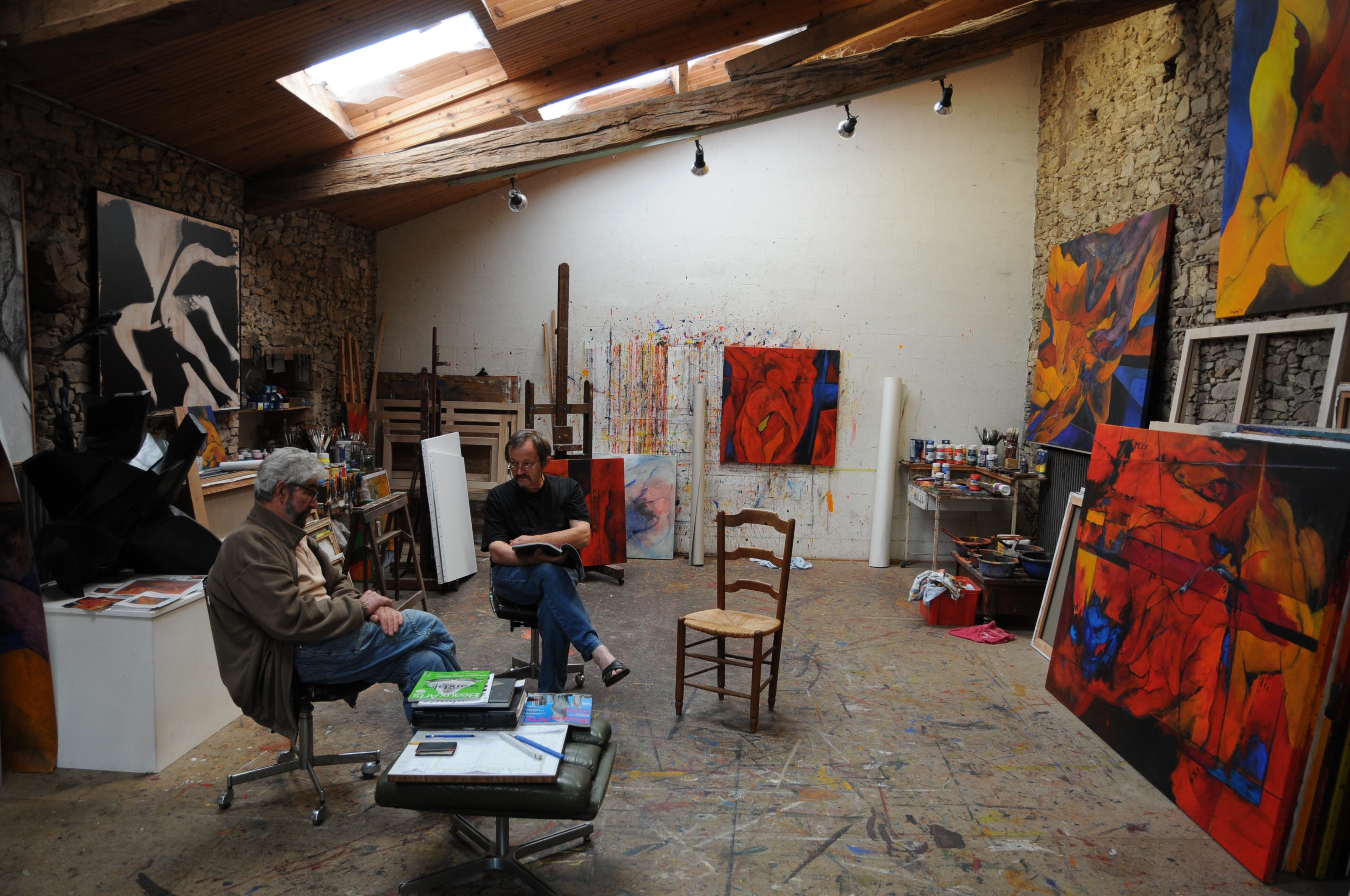 L'atelier-de-jacques-Dominioni-à-la-Tardière 4